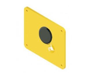 """Διακοσμητικό για κλειδαριά Omega, Disec KT2131,τετράγωνη πλάκα για κλειδαριές Mottura,με """"εμφανείς"""" βίδες"""