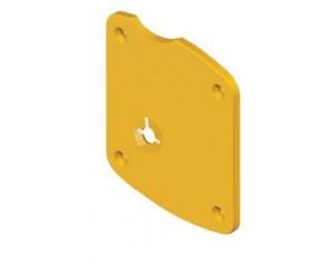 """Διακοσμητικό για κλειδαριά Omega, Disec A1934,τετράγωνη πλάκα για κλειδαριές Atra,με """"εμφανείς"""" βίδες"""