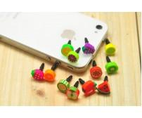 Προστατευτικό σκόνης φρουτα 3.5mm για iPhone 4, 4S, HTC Samsung