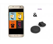 EasyFon Android EFAPB1,εφαρμογή κινητού με κουμπί SOS για άμεση επικοινωνία με συγγενείς και προστασία
