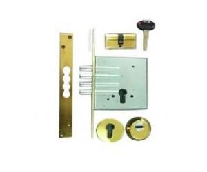 Πακέτο πρόσθετης ασφάλειας απλής πόρτας, κλειδαριά Securemme, κύλινδρος K2 , defender securemme.