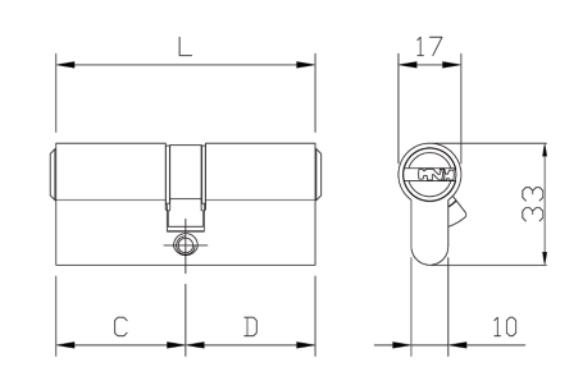 κλειδαριάς ασφαλείας για θωρακισμένες πόρτες  ISEO FIAM ,κύλινδρο με προστασία αντιγραφής κλειδιού ISEO R50