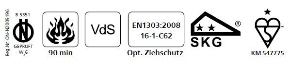 Ολοκληρωμένο σετ κλειδαριάς νέας τεχνολογίας με καταπέλτη, με κύλινδρο υψηλης ασφάλειας EVVA EPS και defender MRM29
