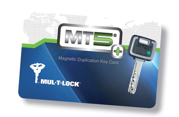 5ης γενιάς υψηλής ασφάλειας κύλινδρος MUL-T-LOCK MT5 με παντεταρισμένο κλειδί