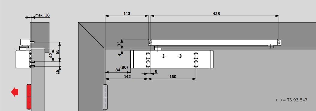 dorma ts93b. Black Bedroom Furniture Sets. Home Design Ideas