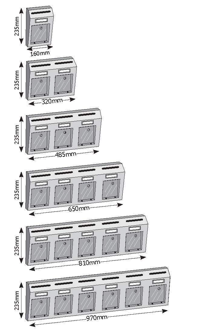 Γραμματοκιβώτιο εξωτερικού χώρου πολυκατοικιών Viometal Ρώμη
