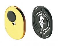 Διακοσμητικό για κλειδαριά Omega, Disec KT2140, εσωτερικό μικρό με πλαστική βάση και καπάκι